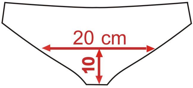 A 10 cm dalla cucitura misurare ampiezza slip dietro - Taglia 2