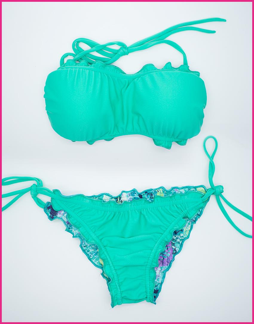 Bikini Acquamarina - Costume da bagno fatto a mano Les Caprices