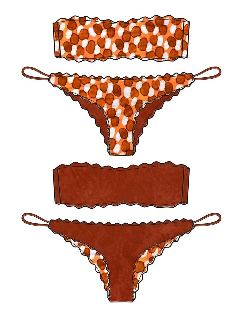 Bikini Bubble Leather - Costume da bagno fatto a mano Les Caprices