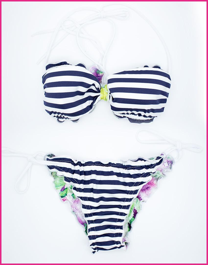 Bikini Sailor - Costume da bagno fatto a mano Les Caprices