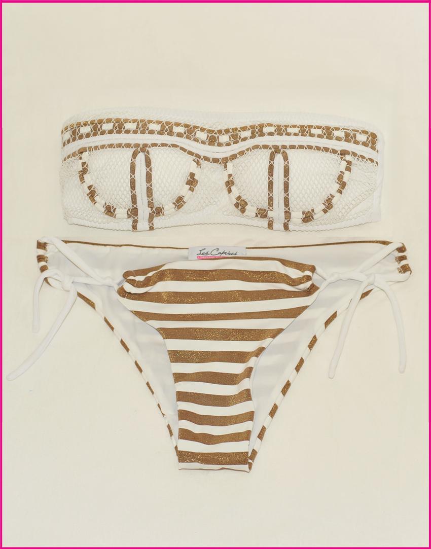 Bikini Corset Stripes - Costume da bagno fatto a mano Les Caprices