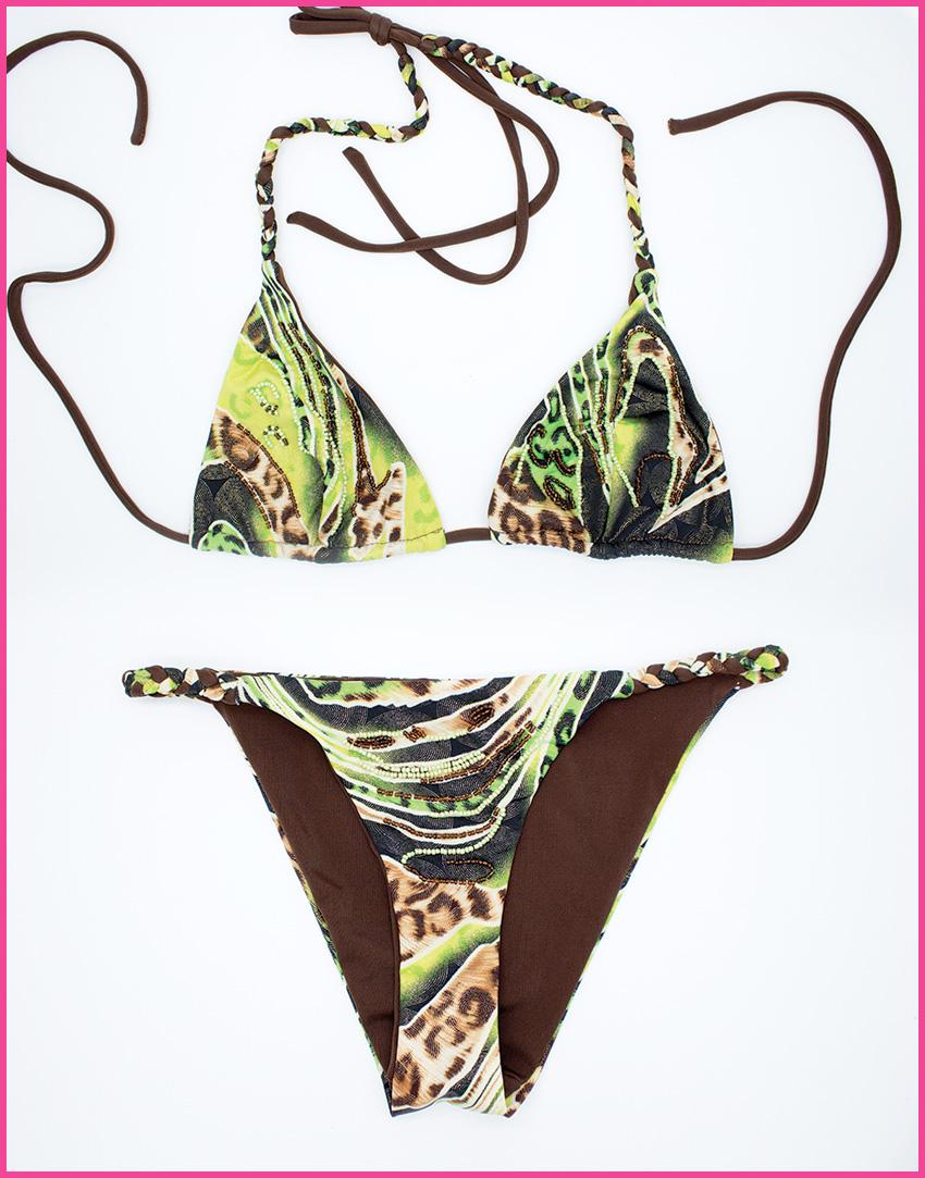 Bikini Triangolo Jungle - Costume da bagno fatto a mano Les Caprices